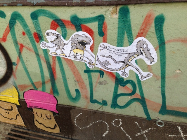 Street Art Berlin Dirschauer Straße Sope Bunny Brigade Amsterdam